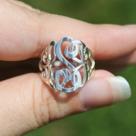 Cut Out Monogram Ring